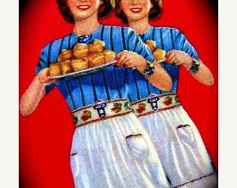 ONSALE Vintage 1950s Baking Kitchen Cards