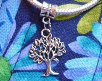 Tree of Life Pendant Charm, European Dangle Tree of Life charm