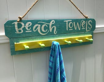 Beach Towel, Beach Towel Rack, Beach Towel Hooks, Beach Towel Holder, Pool Towel Rack, Pool Towel, Pool Towel Hooks, Pool Signs, Pool Decor