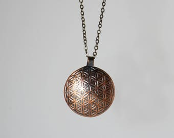 Flower of Life Sacred Geometry Necklace (small)