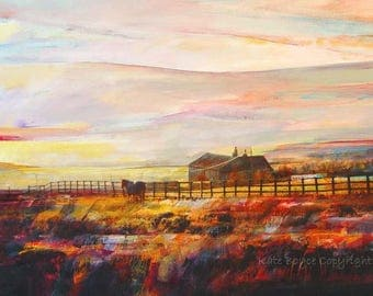 Low Light On Moorland, Blackshawhead. ( Limited Edition Print - Size 2 )
