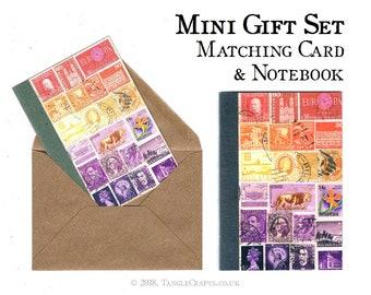 Savannah Sunset Notebook & Notecard Gift Set  • Stamp Art Card + Gift