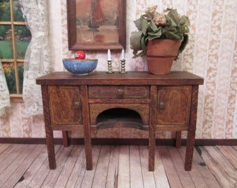 """Tynietoy Dollhouse Furniture - Dining Room Sideboard Buffet - 1"""" Scale"""