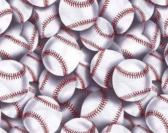 Baseball Fabric by Timeless Treasures (by the yard)