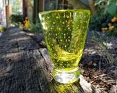 Cordial Glass, Lime Green...