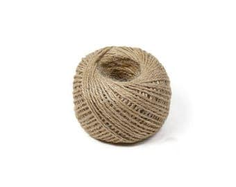 Natural Waxed Linen Cord 2mm - 30 m / 98 ft