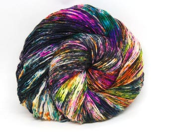 "Acoustic Sock Yarn - ""BamBOOzled"" - Handpainted Superwash Merino - 400 Yards"