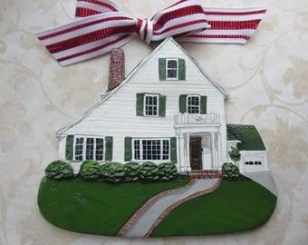 Custom listing for burntskin- one Custom House Ornament- a cherished keepsake of your home