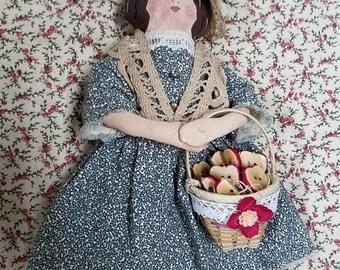 super sale folk art rag doll