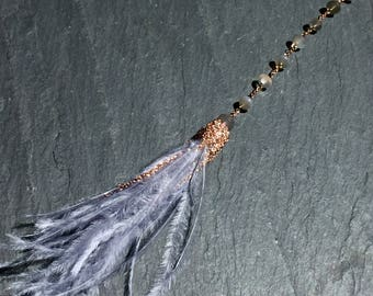 Moonstone Plume Necklace