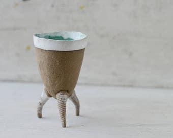 Anthropomorphic Hand Built  Tripod Cup