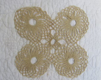 Vintage Doily Off White hand crocheted