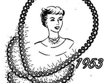 Necklace with Rhinestones Tatting Pattern 729010