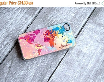 ON SALE Dream Monogrammed Colorful World Map Phone Case - iPhone 4 + iPhone 5