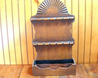 Large Colonial Style Spoon Rack Wall Box Planter