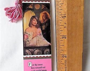 Vintage 1988 Beauty and the Beast Television Show Bookmark Linda Hamilton Ron Perlman
