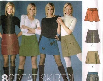 On Sale Misses Short Skirts Sewing Pattern Simplicity 5304 Size 4 6 8 10 Design Your Own Trim Variations