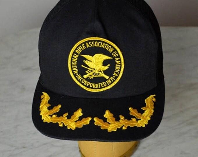 sale Vintage Baseball Hat, National Rifle Association of America, NRA Hat, Mesh Trucker Hat, Snapback Baseball Cap,