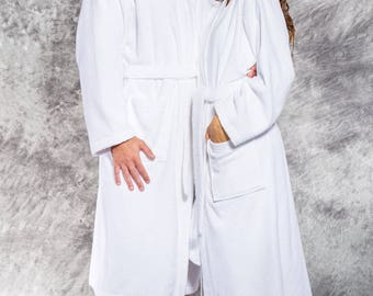 Terry Cloth Robe Women's or Men's Robe Personalized Longer Length Robe Monogrammed robe Thick and cozy Embroidered 100% Cotton.