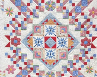 Quilt Twin Double Lap Patchwork Thirties Sampler reproduction Quiltsty  Handmade