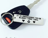 Zelda Inspired Key chain, It is dangerous to go alone! Take this., Legend of Zelda Key chain, Metal Keychain, Nintendo, Zelda