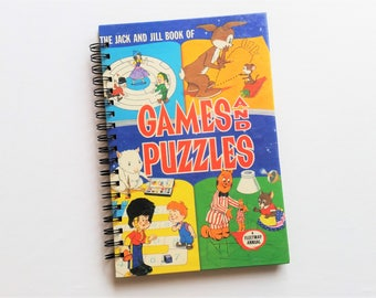 Games and Puzzles, Recycled Book Journal & Notebook