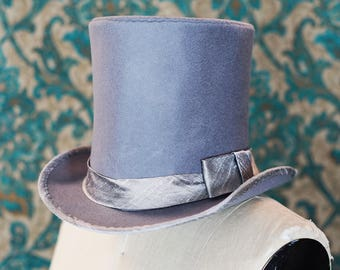 The Incredible Custom Top Hat---in Silver Grey