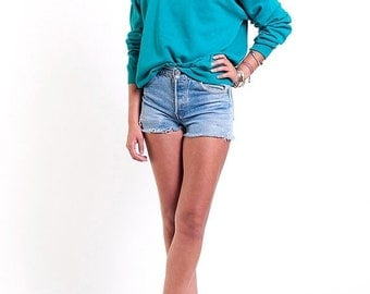 40% OFF The Aqua Stars Turquoise 50/50 Crewneck Sweatshirt