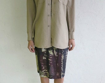 40% OFF Taupe Army Button Up Shirt