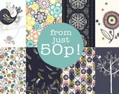 SALE : Recycled Notebook / Patterned Notebooks / Flower Notepad / A5 Notepad / A6 Jotter /