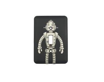 Robot Sticker Decal Light Switch Plate Combo - Standard Robot
