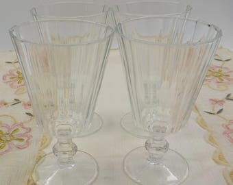 Vintage Crystal Stemware - Cocktail Glasses - Water Glasses - Set of 6 - Crystal- Vintage - 1950 Era