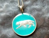 Canada - Lynx Coin Pendant - Hand Painted
