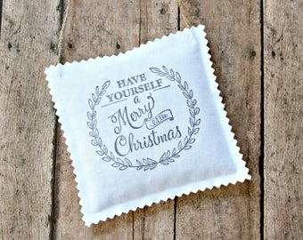 Have Yourself A Merry Little Christmas Hostess Gifts for Women, Lavender Sachet Christmas Tree Ornaments