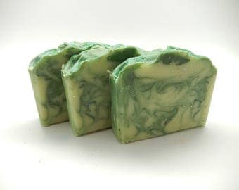 Green Tea & Cucumber cp soap,Artisan Soap, Bar Soap, Cold Process Soap, CP Goats Milk Soap,Homemade Soap,Gift Soap, Royalty Soap, BBW Dupe
