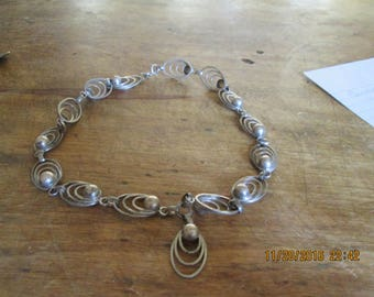 Mexican silver necklace, purchased about 1975, good condition nice look