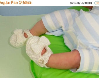 40% OFF SALE Digital file pdf download knitting pattern- Baby Bow Sandals Booties Bootees pdf download knitting pattern
