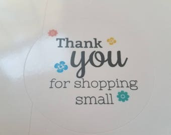 Thank You Stickers Labels Small Business Etsy Biz Support Small Shop Small Stickers Packaging Stickers