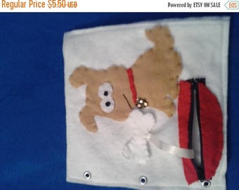 Back to school sale Build Your Own Felt Quiet Book..  Page by Page Doggy, Doggy Where's Your Bone..  Durable