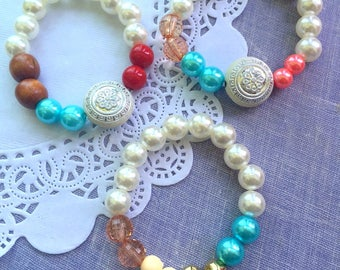 MIX of Moana bracelets, SET of TWELVE, Moana party, moana bracelet, birthday party favor, kids birthday favor, kids jewelry.