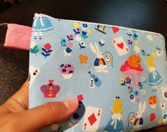 Alice in Wonderland Handbag /Cosmetic Bag