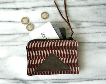 Mini wallet / Gifts for Her / Zip Pouch / Change Purse / Geometric Pouch / Geo Pouch / Fashion Gift / Gifts under 25 / Modern Minimalist