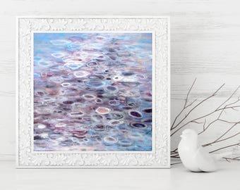 Purple Abstract Printable Art, Abstract Art Print, Square Art Print, Abstract Painting Print, Instant Download - Modern Art 8x8 10x10