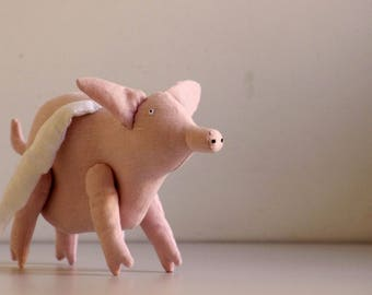 The flying pig. Soft sculpture