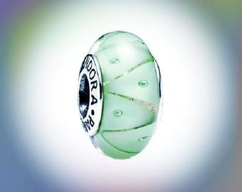 New Pandora charm Bead Green looking Glass 790925 with packing~S925 Ale