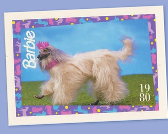 """Barbie Collectible Trading Card - """"Beauty"""" 1980 - Card No. 25 for Barbie collectors, dioramas, Barbie Dog Collectible"""