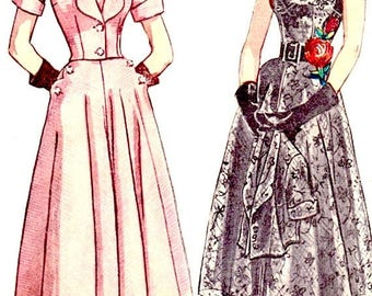 ON SALE Uncut Early 1950s Dress Pattern Sundress, Jacket Simplicity 3437, Gored Skirt Vintage Sewing Pattern Bust 38 inches