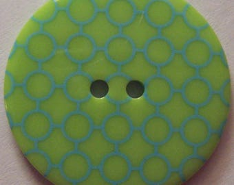 Plaid Kiwi Lime Green Buttons - 1 3/8 inch - YOU PICK QUANTITY - 5 thru 180 - See Shop Announcement for 60% off discount code