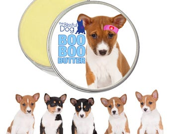 Basenji Boo Boo Butter Handcrafted Soothing All Natural Balm for Your Basenji's Itchy Skin Irritations and Canine Skin Needs 1 oz tin