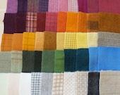 VENTE à la main teint feutre laine Scrap Bundle 1354 parfait pour accrocher tapis, Applique, Quilting et couture de Quilting hectares